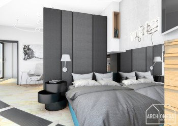 Ściany pikowane w sypialni