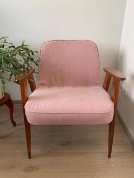 Fotel tapicerowany różowy - Cocodeco Katowice