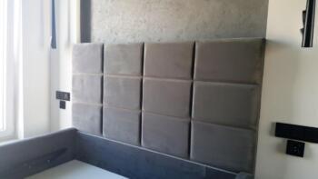 Panele tapicerowane nad łóżkiem - Katowice Cocodeco