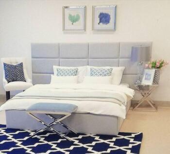 Szare panele tapicerowane w zagłówku łóżka - Cocodeco Tychy